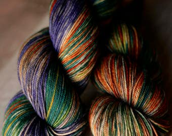 "Sock yarn - 70/20/10 SW Merino/Yak/Nylon - Autocorrect - ""Underneath All This Armpit"""
