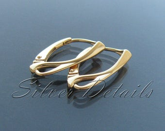 Top Quality 24k Gold Vermeil over Sterling Silver Leverbacks 925 Earring finding reference code L3Y