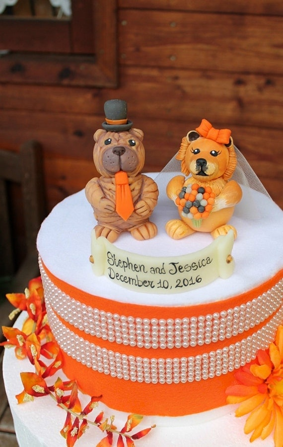 wedding cakes pei wedding cake topper chow chow and shar pei cake topper 25235