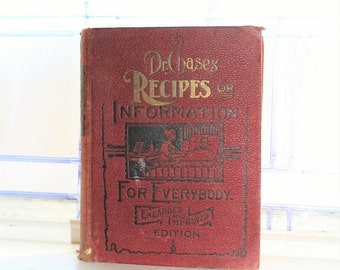 Antique 1902 Book Dr. Chases Recipes Or Information For Everybody