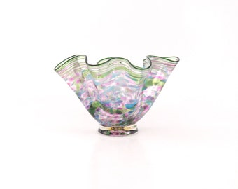 Hand Blown Art Glass Bowl in Purple