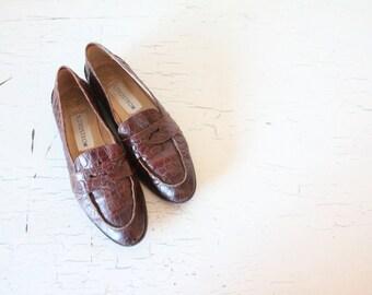 worn italian leather loafers / 8