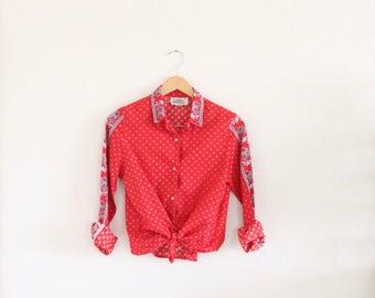 1970's bandana blouse