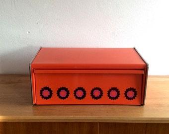SALE 20% discount: seventies orange Brabantia Patrice bread box