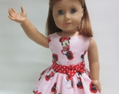 18 inch Girl Doll Clothes  T- Shirt & Ruffle Skirt for Theme Park