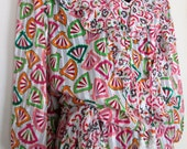 Vintage 80s Sloane Ranger-Tyron Style Dress by Mosaic UK M/L  US S/M   Georgette