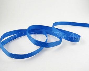 "Royal Blue Ribbon - Blue - 3/8"" 7/8"" or 1 1/2"" Grosgrain Ribbon - You Choose Length & Width -  Bow, Scrapbooking, Sewing, Art Craft Supplies"