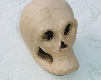 Paper Mache Skull Halloween Shapes