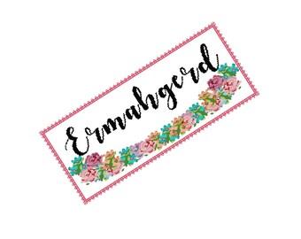 Ermahgerd Cross Stitch - Funny Cross Stitch - Pc Curse Word Cross Stitch Pattern - Modern Cross Stitch Pattern