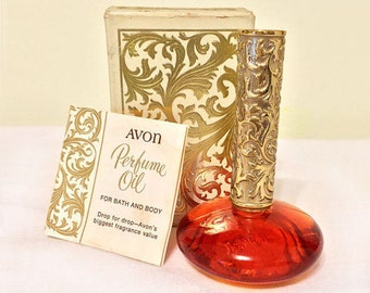 Vintage Avon Brocade Perfume Oil- 1/2 Ounce