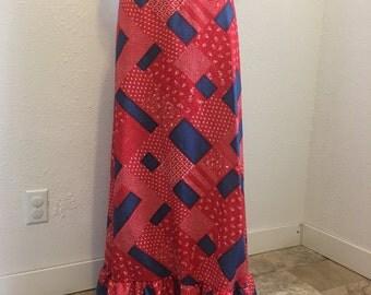 """Vintage Skirt, Plus Size Skirt, Maxi Skirt, New Old Stock Skirt, 40-47"""" Vintage Plus Size, Size 20 Vintage"""