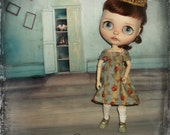 Blythe  ~ Vintage Inspired Smocked Dress & Crown ~ Will only fit Azone Pure Neemo S Body ~ By KarynRuby