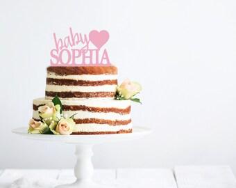 Baby Love Acrylic Cake Topper | Gender Reveal Cake Topper | Baby Shower Cake Topper | Twinkle Little Star Shower