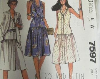 McCall's 7597 Roland Klein Misses Jacket and Dress Size 8 Uncut