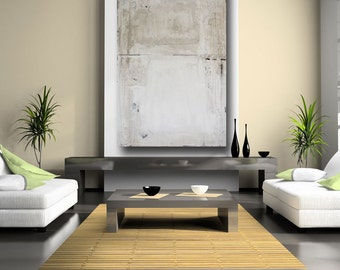 fine art large abstract painting huge original loft art wall decor minimalist art white paintings on canvas textured 60 x 40 cheryl wasilow