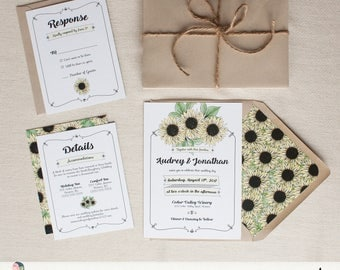 Country Wedding Invitation Suite {Sunflowers}