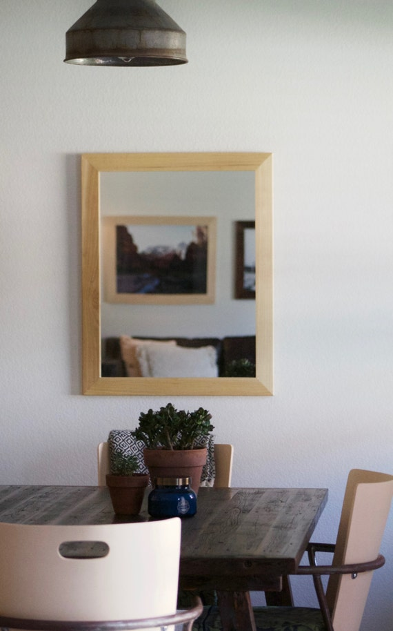 Brilliant Bathroom Mirror Wood Distressed Driftwood By KennethDante On Etsy