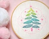 Holiday embroidery, Hand embroidery patterns, Christmas tree, Xmas tree, Christmas decorations, Christmas gifts  by NaiveNeedle