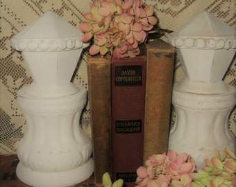Architectural Finial Decor - Architectural Columns with Finials - Finial Bookends - White Finial Bookends - Shabby Chic Bookends
