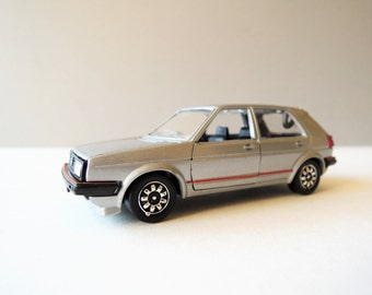 VIntage Diecast Car Model, Schabak Model No 1008, VW Golf GTI 1/43 Scale Model, Made Germany, Silver Hatchback Toy Car, Collectible Diecast