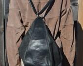 Black Harley Davidson Bag, Women's Vintage Harley Bag, Black Backpack, Leather Purse, Black Vintage Bag