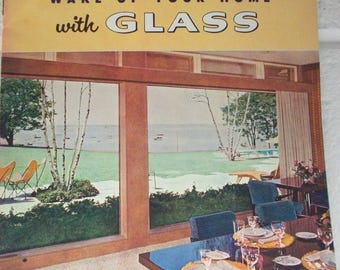 1953 PITTSBURGH PLATE GLASS Products Book Mid-Century Home Design Decorating Decor Building