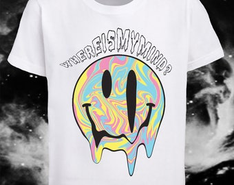 Where is my mind? Grunge smiley face unisex tshirt