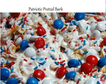 Patriotic Pretzel Bark