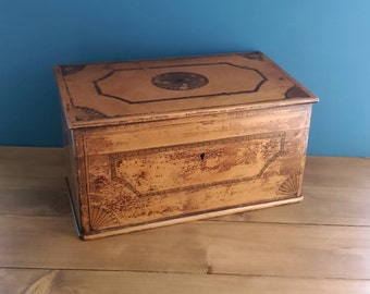 Antique French Painted Stationary Box