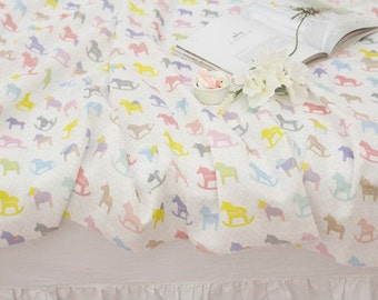 "Cotton Double Gauze, Rocking Horse Double Gauze - 59"" Wide - Fabric By the Yard 94403"