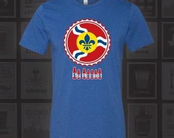 St. Louis Bottle Cap Shirt, STL Beer Shirt, St Louis Beer, St Louis Beer Shirt, Saint Louis, STL, St Louis, Beer Cap Shirt, St. Louis Flag