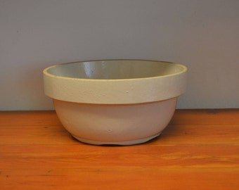 Vintage Stoneware dough bowl mixing bowl bread bowl