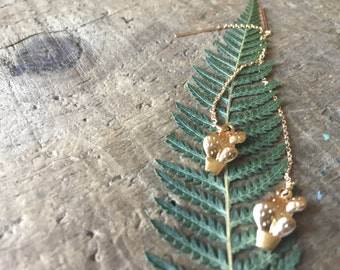 14k Gold- Fill Ear Threaders & Cactus Charm Earrings- Southwest Style- Saguaro Cactus