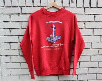 Vintage 1988 Party Ties & Platform Heels Crewneck Sweatshirt Washington D.C. Fruit of the Loom tag Made in U.S.A.