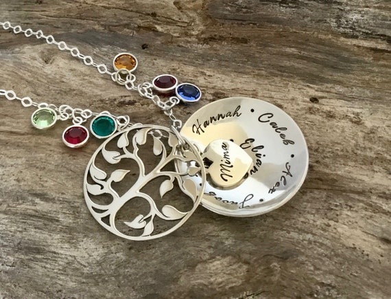 Tree Locket - TREE OF LIFE Locket - Sterling Silver - Mothers Gift - Birthstone Locket - Christmas Gift for Mom