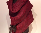 "SALE! Hand woven ""Autumn""- Shawl, scarf, throw, blanket, wool"