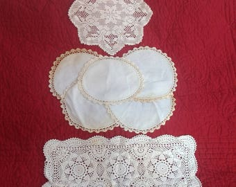 Lot of 8 DOILIES-