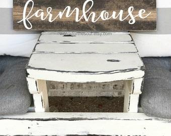 FarmHouse - Farm House -  wood Sign - Kitchen Wall Decor - Rustic Sign  -  Fixer Upper - Wooden Sign - Farmhouse Decor - Shiplap
