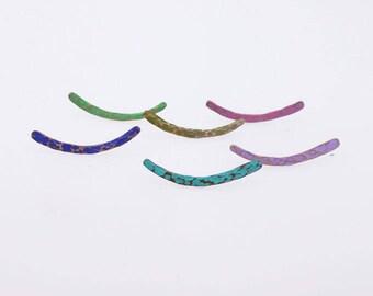 Copper ear crawlers, ear cuffs, ear crawlers, copper ear climbers, stud earrings, ear stud, turquoise ear climbers, blue earrings
