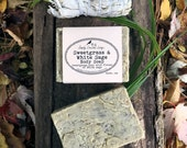 Sweet Grass & White Sage Vegan Soap - Infused with Real Organic Sweetgrass - No Essential or Fragrance Oils Added