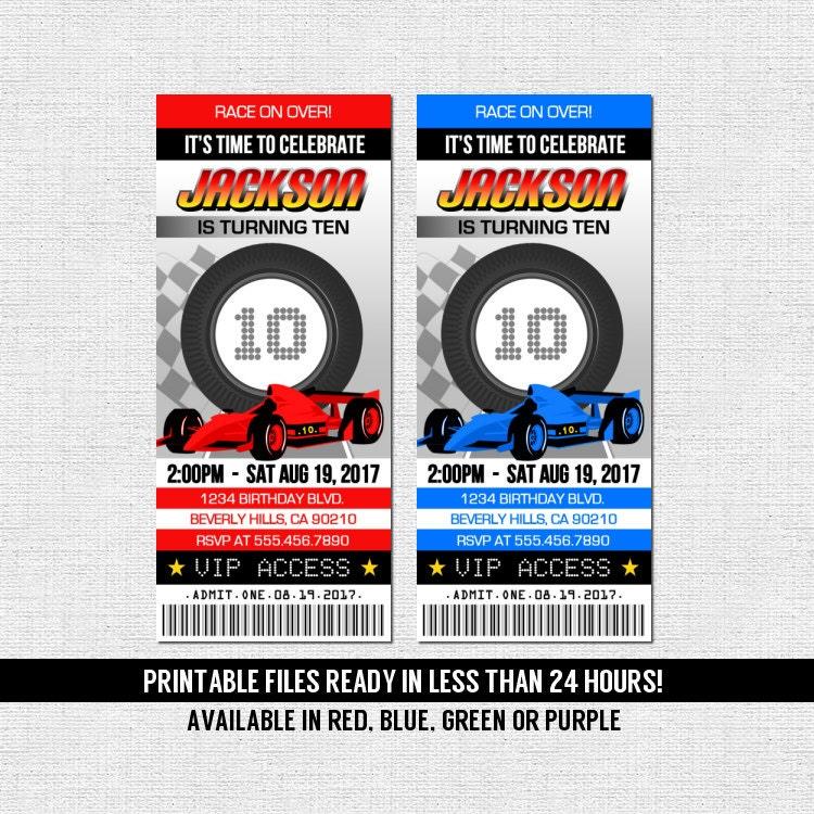 Fine Go Kart Party Invitations Gallery - Invitation Card Ideas ...
