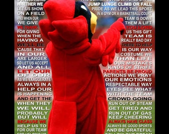 The Mascot Prayer personalized with photo, Mascot Prayer, Mascot Print, Mascot Poster,  Prayer Mascot, Senior night, Sports Banquet