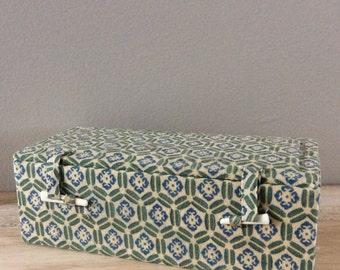 vintage Asian silk decorative box