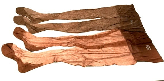 1930s Stockings, Nylons, Tights & Socks Rare 100% PURE SILK STOCKINGS with Seams - New Never Worn Vintage 1930s $50.00 AT vintagedancer.com