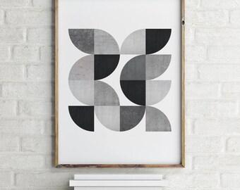 Geometric Minimal Poster, Scandinavian Print, Digital Download Large Downloadable Poster, Instant Download, Minimal Design Print