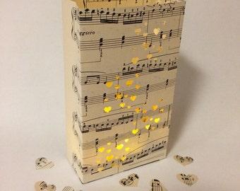 Sheet Music Luminary, Music Wedding, Wedding Lanterns, Luminary Bag, Wedding Decor, Music Gift, Sheet Music Luminary, Love, Party Decor