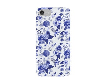 iphone Snap Phone Case, printed phone case, floral phone case, blue flowers, rose phone case, cute phone, for her, flower case
