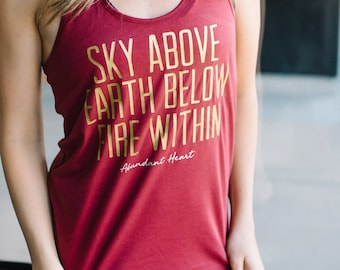 Fire Within Me Perfect Racerback Tank  ~  Runner Tank  ~  Yoga Tank  ~  Fitness Gift