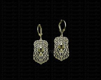 Caucasian Ovcharka earrings - gold.