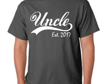pregnancy announcement, uncle to be gift, new uncle gift, baby announcement, reveal to uncle, uncle birthday, uncle shirt, UNCLE EST 2017
